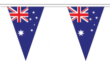 Australia Triangular Flag Bunting - 20m Long - 54 Flags